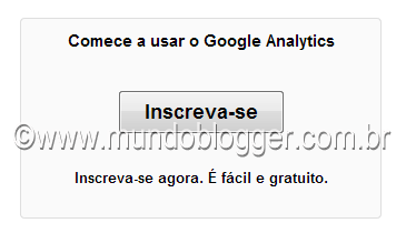 inscreva-se no google analytics