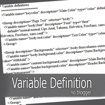 CSS – Variable Definitions no Blogger