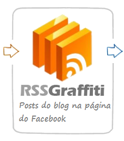 Posts do blog na página do facebook com RSS Graffiti