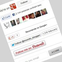 Incluir Gadget Social Follow na Sidebar do blog