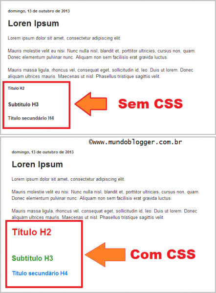 heading tags css